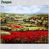 Frameless Picture Painting By Numbers Diy Digital Oil Painting On Canvas Realist Countryside Scenery Home Decor