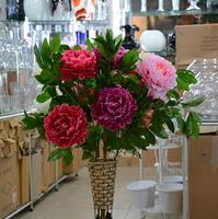 Hot selling artificial flower 3 rich peony home furnishings artificial flower decoration flower floor props