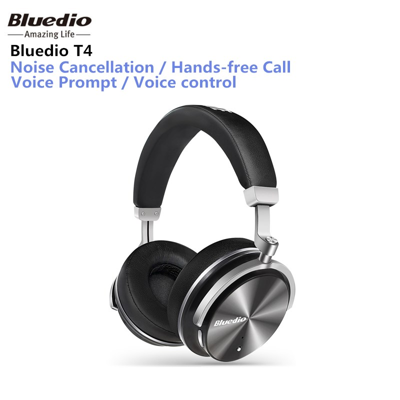 Bluedio T4 Portable Noise Cancelling Wireless Bluetooth Headphones wireless Headset with microphone music for mobile phone iOS 2016 noise cancelling wireless sleep headphones stereo 2 4ghz bluetooth headset for listenting music answering phone eye mask