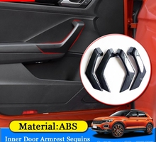 ABAIWAI Car Styling ABS Car Inner Door Armrest Sequins Cover Sticker Auto font b Interior b