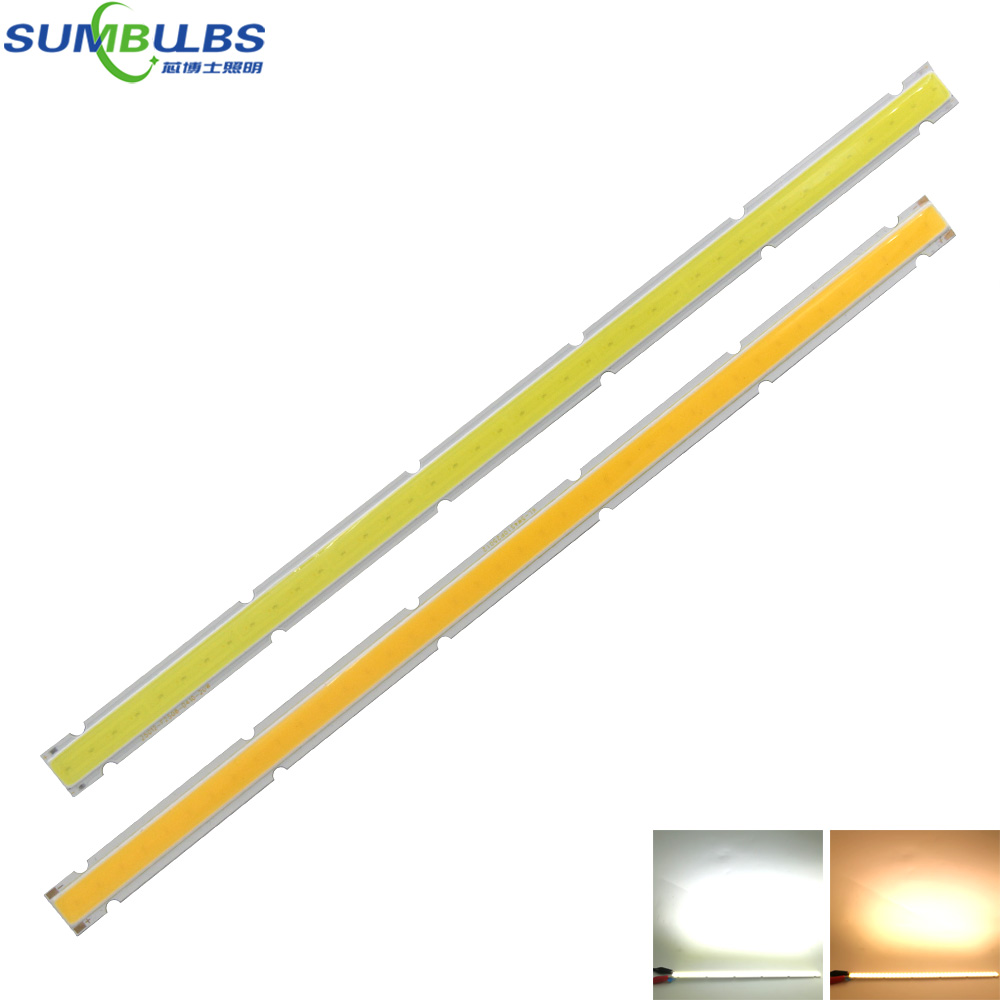 [Sumbulbs] 250x12MM 12V COB LED Bulb Strip Lamp 10W Ultra Bright 1000LM 25CM Bar Light for DIY Car Work Table House Lighting 120mmx36mm warm white pure white cob led strip lamp lights bulb 10w 1000lm super bright 12v 24v for diy high quality