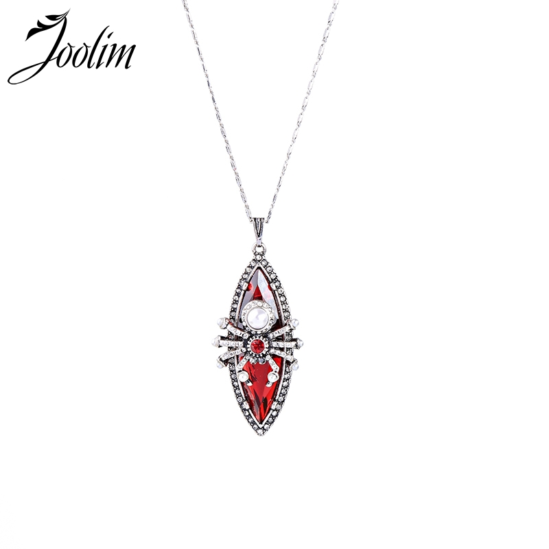 Joolim Jewelry Wholesale Red Wild Spider Necklace High Quality Nekclace