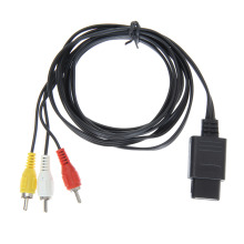 Cable de 1,8 m 6 pies AV TV RCA Cable de video para cubo de juego / para SNES GameCube / para Nintendo para N64 64 Game Cable