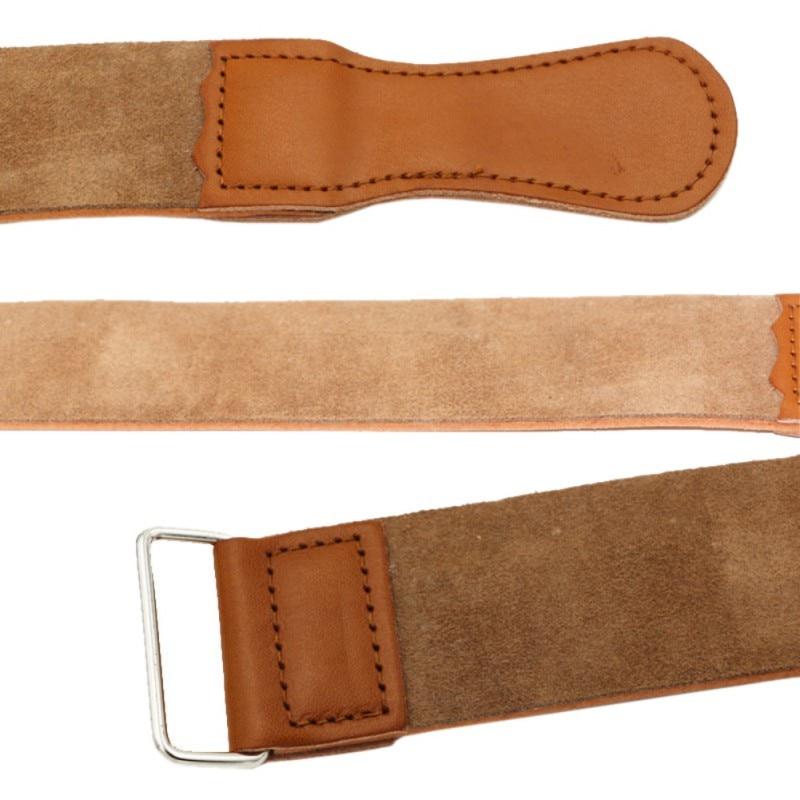 Leather Strop Straight Razor Sharpener Shaving Strap Belt Barber Leather Knife Sharpening Scraper