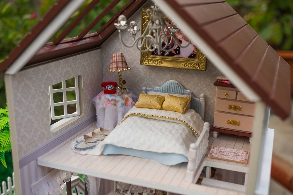 Mylb Assembling DIY Miniature Model Kit Wooden Doll House,Paris Apartment  House Toy With Furnitures In Doll Houses From Toys U0026 Hobbies On  Aliexpress.com ...