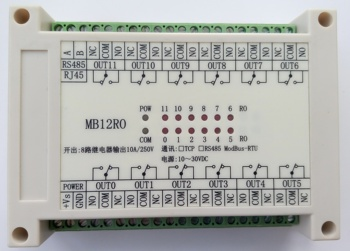 Switch Output Module 12 Road Relay Output Isolated RS485 MODBUS RTU Communication