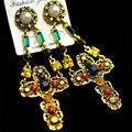 Vintage Baroque Cross Men Head Coin  Flower  Earring For charm Women Statement Jewelry Hot Brinco 440