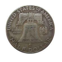"""Дата 1955 1955-D 1956 1957 1958 1959 1959-D 1959-S 1960 1961 1961-D 1962 196"""" P"""" D """"S"""" Франклин половина долларовые монеты КОПИЯ"""