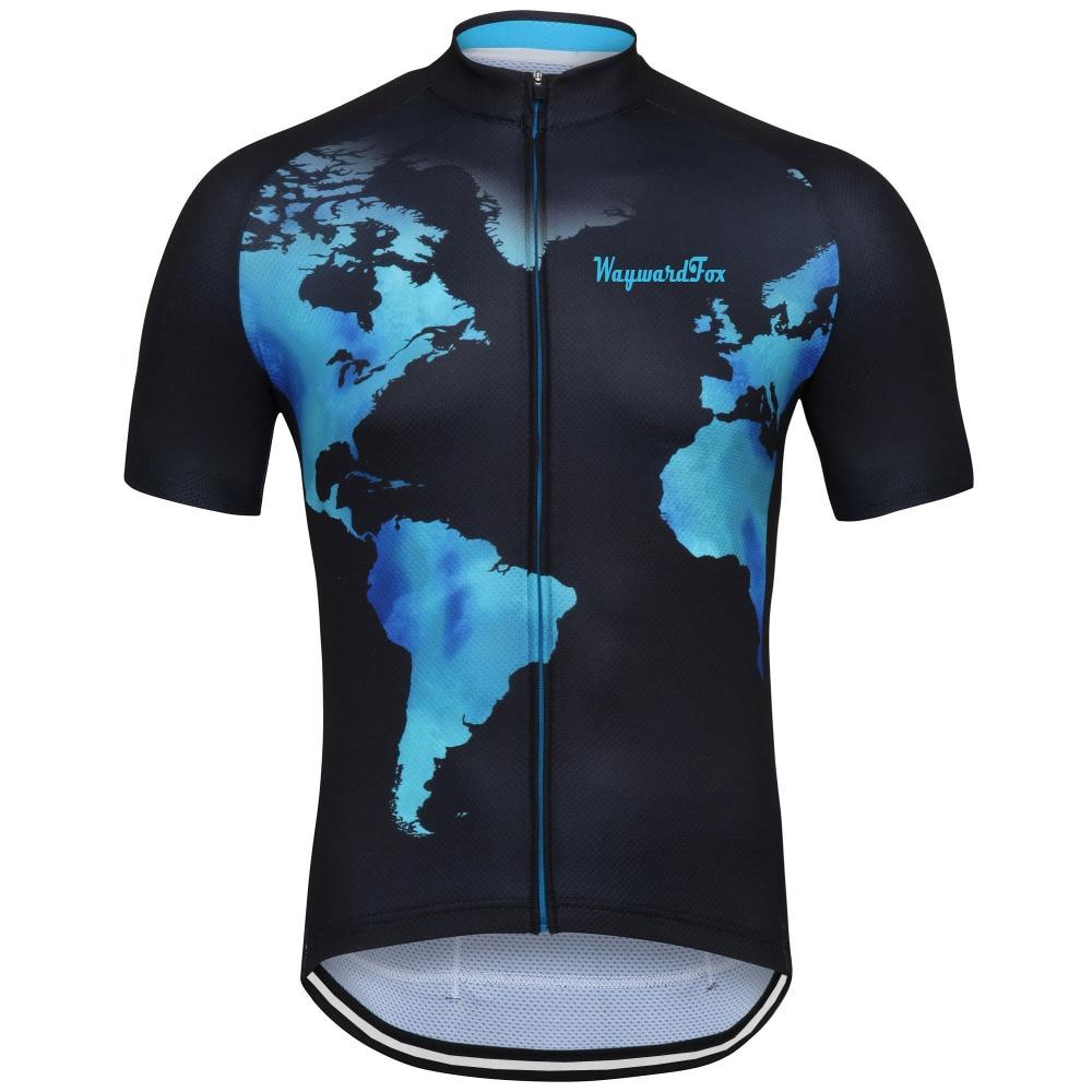 Prix pour Nouveau 2017 hommes Vélo Jersey D'été Vêtements de Cyclisme À Manches Courtes route/vtt vélo vêtements d'équitation