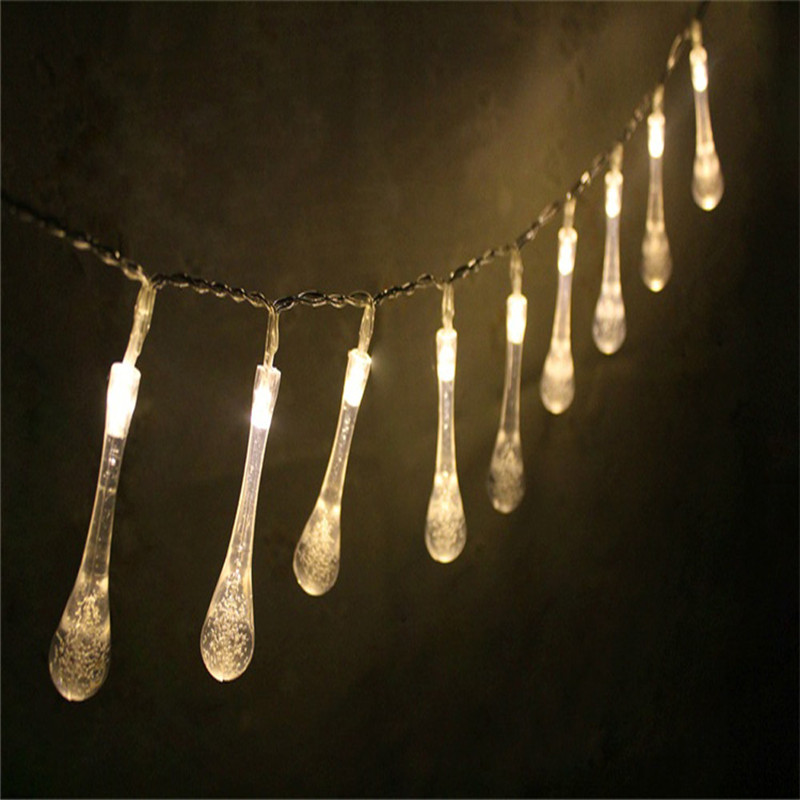 1 5m 10led Colorful Glow Water Drop String Lights Party