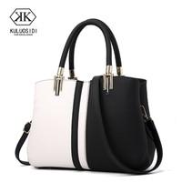 Contrast Color Women Leather Handbags Messenger Bags Women Shoulder Bags For Women 2018 Sac a Main Handbags Ladies