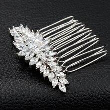 Роскошный Полный AAA CZ Zircomn Волосы Расчешите Волосы Женщины Ювелирные Изделия Для Свадьбы Свадебные TF071