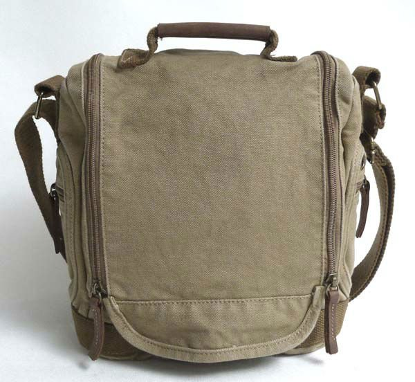 Thick canvas + genuine leather Sling Bag women s Messenger Shoulder Bag  unisex leisure b8701eda2d9aa