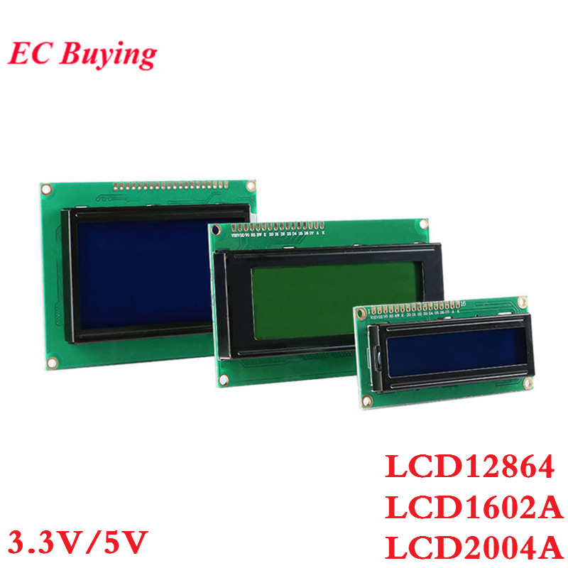 LCD Module 1602A 2004A 12864B LCD Display Module Blue / Yellow-green Screen Display IIC I2C For Arduino 3.3V / 5V 1602 I2C LCD