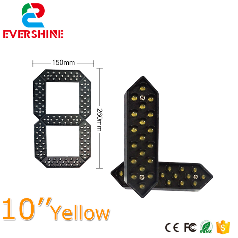 Hotsale 10 yellow Color Outdoor Digital Gas Station 7 Segment LED Sign Module