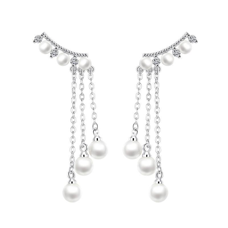 Ear Stud Lady Fashion Charme Frange Perle Dangle Boucles d/'oreilles Tassel Boucles d/'oreille