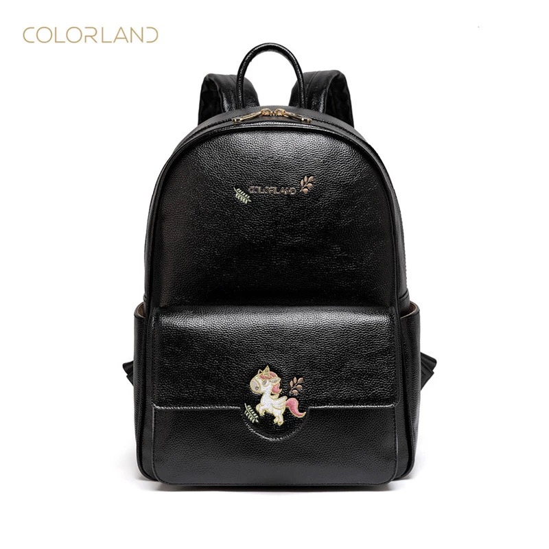 COLORLAND 2019 Spring/Summer Collection Mommy Bags Mummy Diaper Bags Backpacks PU Material Waterproof and Durable Commuter Bag