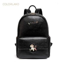 COLORLAND 2019 Spring/Summer Collection Mommy Bags Mummy Diaper Backpacks PU Material Waterproof and Durable Commuter Bag