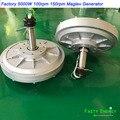 5 кВт/5000 Вт 100 150 об/мин 48 96 220 380VDC Вертикальная ветряная турбина постоянный магнит генератор без сердечника maglev DIY Генератор