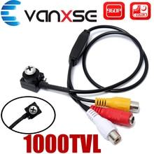 Vanxse CCTV 1/3 sony CCD 1000TVL 3,6 мм широкий угол HD мини безопасности камеры скрытого видеонаблюдения с Аудио Микрофон