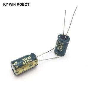 Image 4 - 10 adet Alüminyum elektrolitik kondansatör 10 uF 450 V 10*17mm frekuensi tinggi Radyal Elektrolitik kondansatör