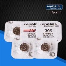 5 pacote Relógio De Óxido De Prata 395 SR927SW renata 927 1.55V 100% 395 bateria Renata 927 Bateria
