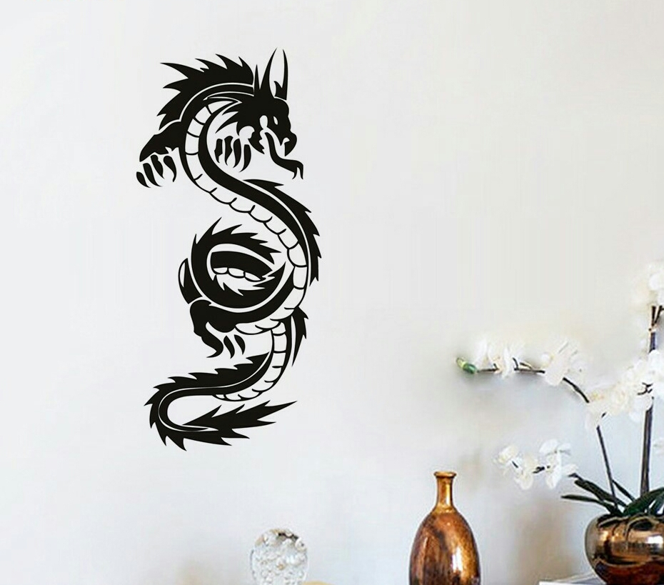 Free Shipping High Quality Chinese Dragon Wall Mural Living Room Home Decoration Vinyl Art Removable Wall Sticker Y-250