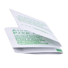100pcs/Box Professional Alcohol Swabs Pads Wet Wipes 70% Isopropyl First Aid Home Skin Cleanser Sterilization