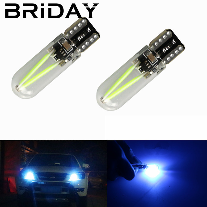 2x Newest T10 W5W WY5W led cob CANBUS glass car light Led filament auto automobiles reading dome bulb lamp DRL car styling 12v newest design h11 led canbus car headlight kit cob 60w 5000lm auto front bulb automobiles headlamp fog drl lights 12v 24v 6000k