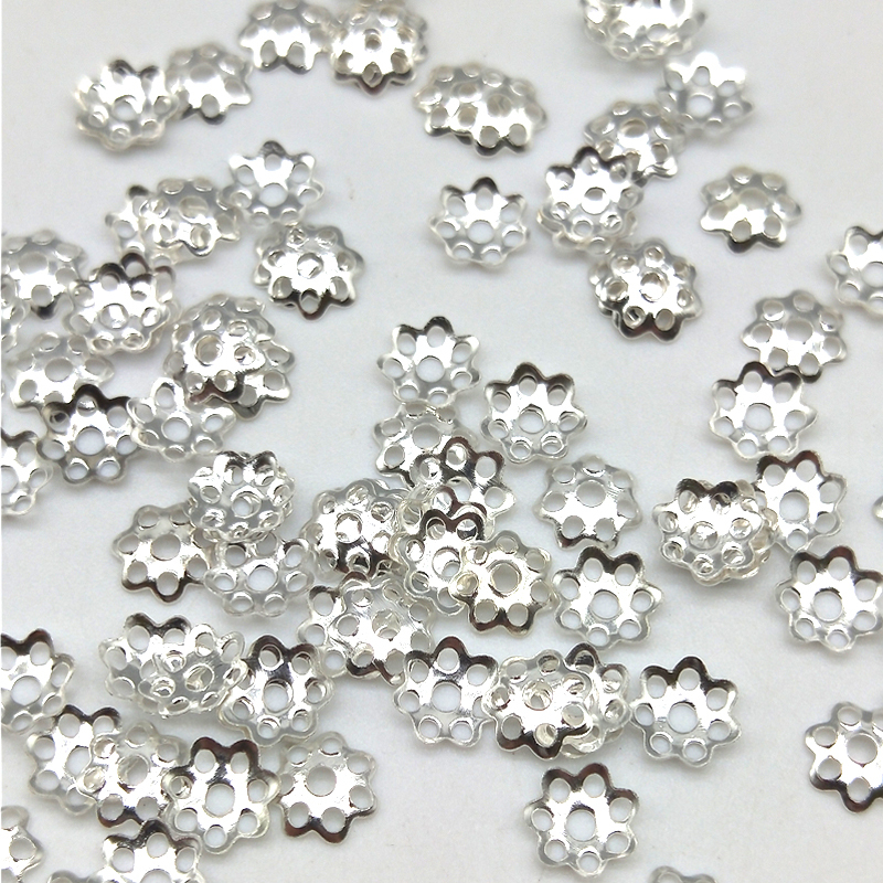 Jewelry DIY Necklace-Accessories Flower-Beads Isolation Wholesale 100pcs/Lot For 6mm