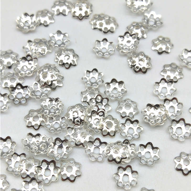 Flower Beads 100pcs/lot 6mm Jewelry Findings Hat Isolation Jewelry DIY Jewelry Accessories for Necklace Accessories Wholesale