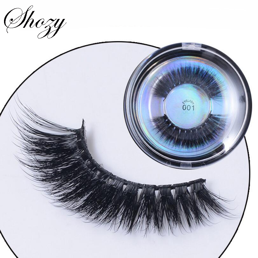 Shozy 1 Pair 3D Protein False Eyelashes Handmade Tapered Fake Eyelashes Extention Eye Beauty Makeup Accessories-EDB001