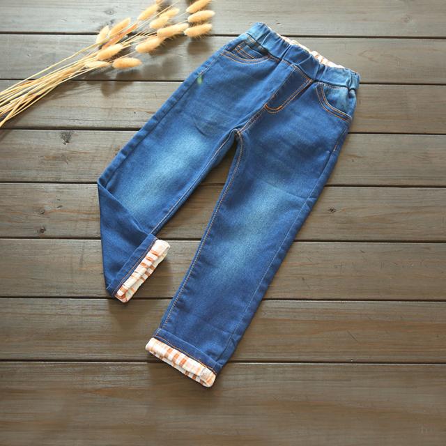 Niños del resorte pantalones vaqueros pantalones sólido sobre ropa de los niños al por mayor