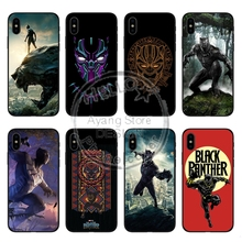 Comics marvel  black panther Soft TPU silicone High quality luxury Phone Case For iPhone X 10 5 5s se 6 6S 7 Plus 8