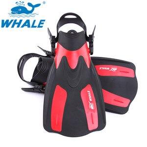 Image 1 - Marka nurkowanie płetwy do pływania regulowane dla dorosłych krótkie buty do nurkowania płetwy do pływania Trek Foot Flipper nurkowanie Flippers z obcasem