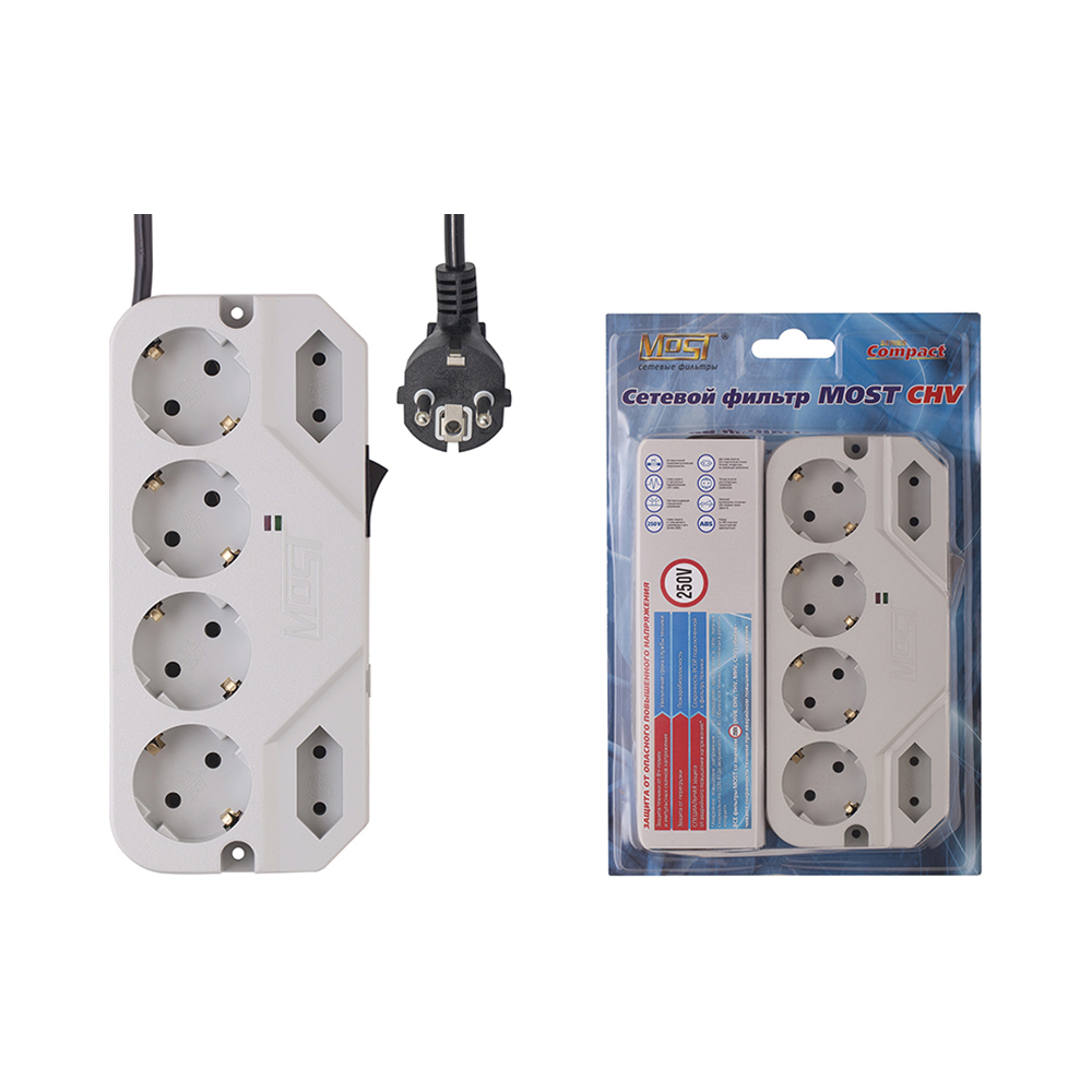 Mains filter Most CHV 5 m Consumer Electronics Accessories & Parts Electrical Socket & Plugs Adaptors main filter most mrg black consumer electronics accessories