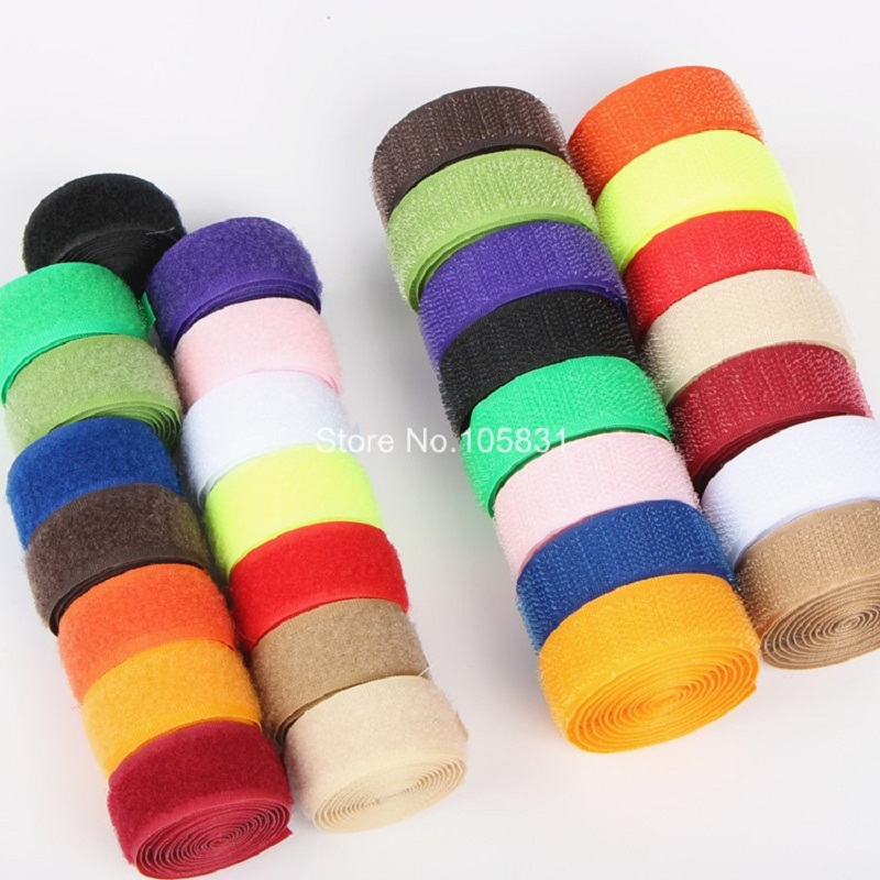 Nylon Magic Tape Adhesive Fastener Tape Hasp Hook And Loop Wide Sticky Baby Clothes Belt Patchwork Accessories By Meter