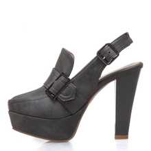 Plus Size 48 Fashion Women Pumps Back Straps High Heels Shoe