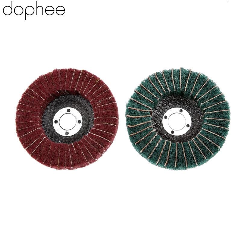 Dophee 1PC 100MM Dremel Accessories Nylon Fiber Flap Polishing Grinding Wheel Disc For Angle Grinder Polishing Tools 320# 180#