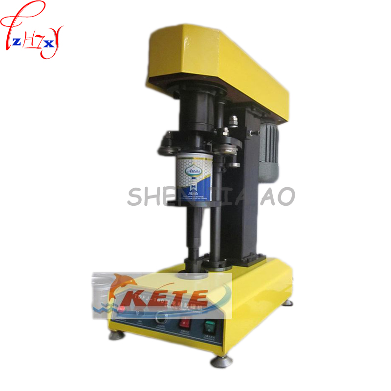 TDFJ-160 Desk-top automatic container capping machine,cans sealing machine,paper cans,PET plastic tank,cover pot metal machine  цены