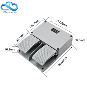 Image 4 - Interruptor de pie YDT1 16 carcasa de aluminio, interruptor de doble pedal gris, herramienta, accesorios