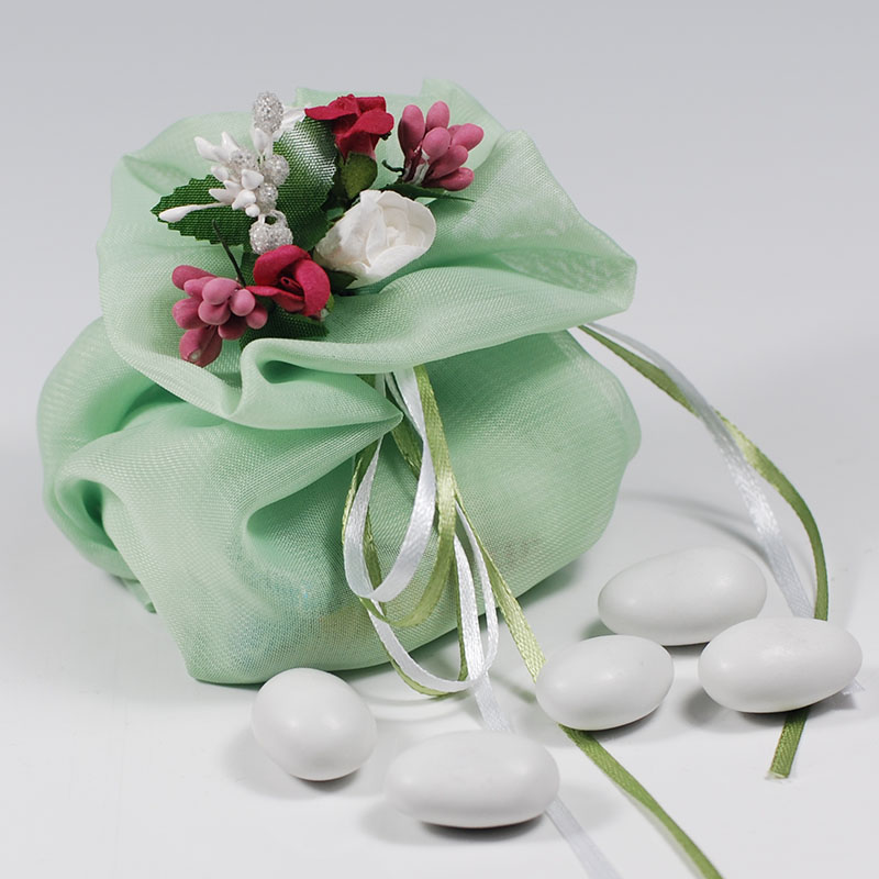 Italian Style green candy gift bags Floral Cloth Pouch Wedding Candy Holder Wedding Favor Holder Chocolate Bag Candy Package   Ямча