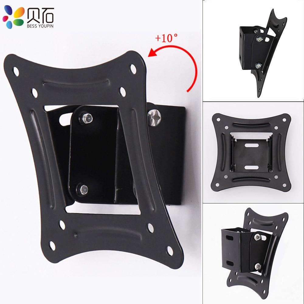 Universal TV Wall Mount Bracket Fixed Flat Panel TV Frame Stand Holder 15 Degrees Tilt Angle for 14-26 Inch LCD LED Monitor
