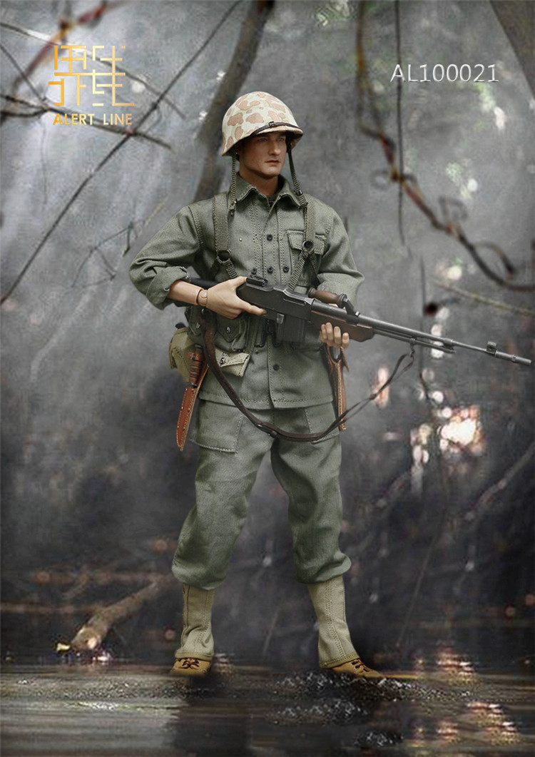 1//6 Scale Alert Line Figures Backpack USMC BAR Gunner AL100021