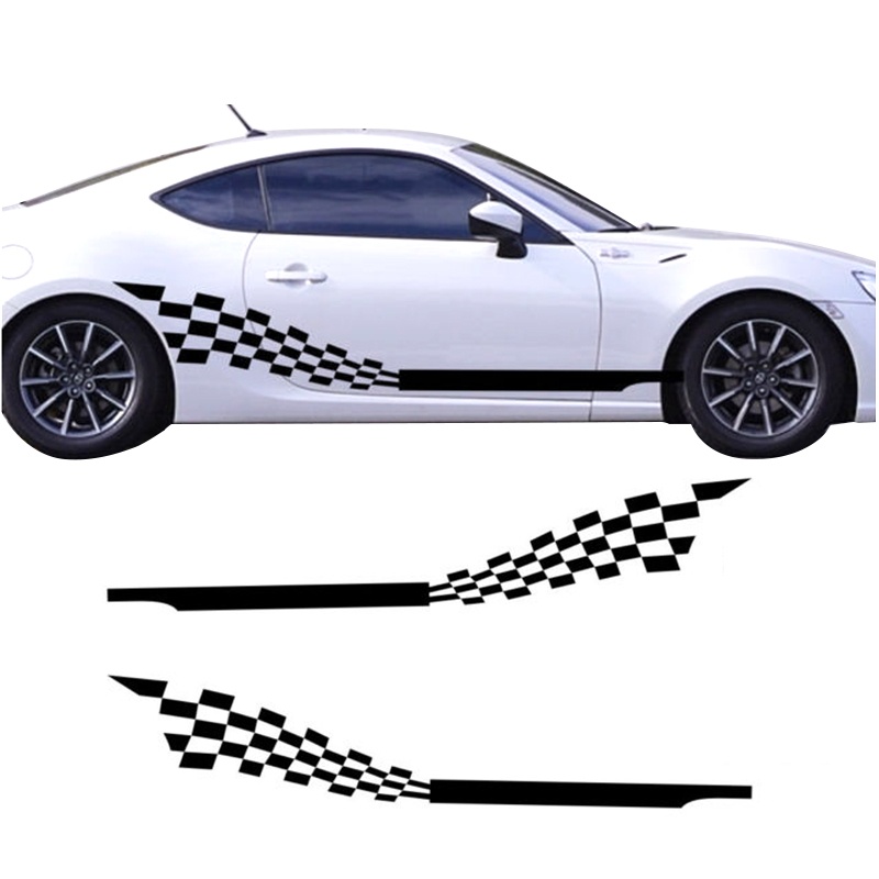 Car Dual Racing Stripes Flags for 3 Series Vinyl Door Decal Side Sticker (YongXun) car racing door side stripes skirrt sticker sport all4 graphic auto vinyl decal for mini countryman r60 car styling accessories