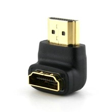 90 Degree or 270 Angled HDMI 1.4 Male to Female Extension Adapter black color