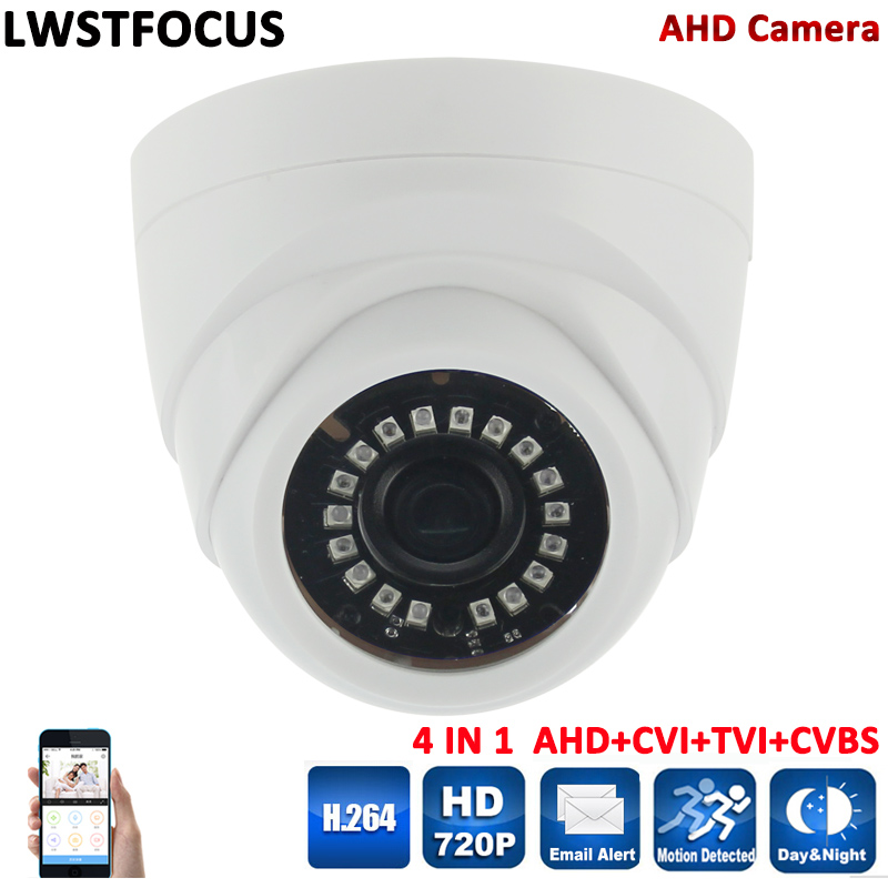 4 IN 1 AHD Camera Security Analog HD 2MP 3.6/2.8mm Lens AHD Camera 720P Indoor IR 20m IR-Cut Filter Dome CCTV 1.0MP AHD Camera free shipping hot selling 720p 20m ir range plastic ir dome hd ahd camera wholesale and retail
