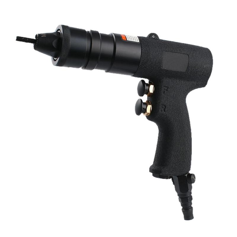 high quality taiwan pneumatic rivet nut gun M6 M8 M10 air pull nut tool self lock gun head wind nut riveter rivet cap tools  цены