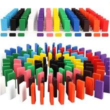 480 шт./компл. Радужное деревянное домино игрушки Дети Сортировать деревянные строительные блоки наборы домино игра обучающая игрушка для взрослых детей подарок