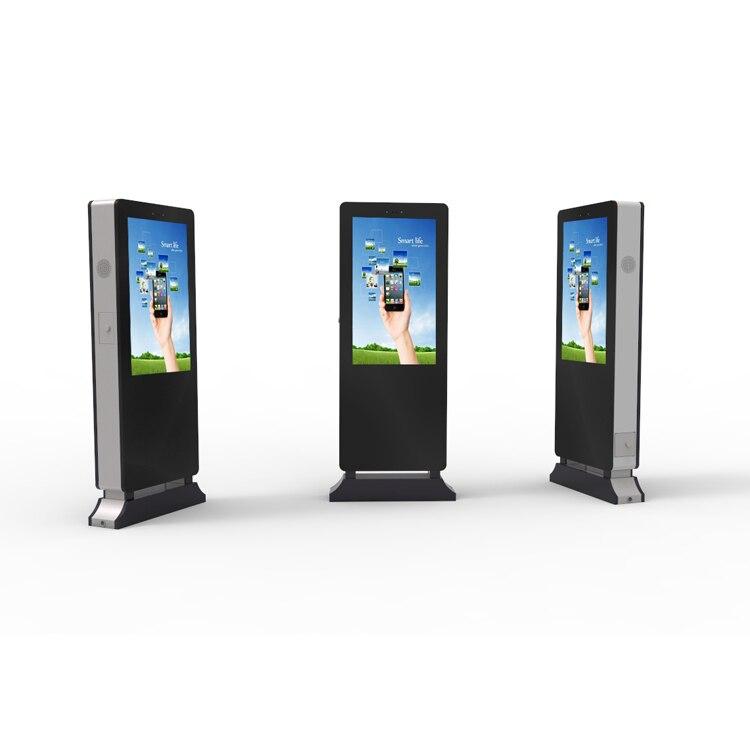 84 дюймов Напольные наружной рекламы-плеер lcd digital signage с высокой яркостью 2000CD/m2 ...